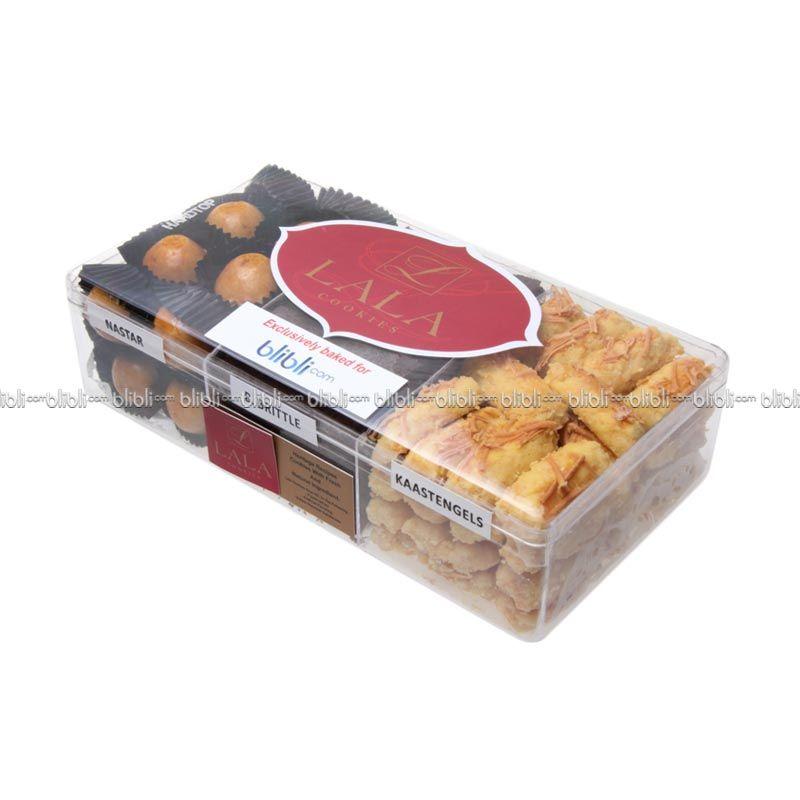 Lala Cookies Mix 3 Nastar, Brownie Brittle, Kaasstengel