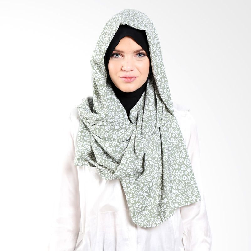 LAMAK Rawdah P0915003 Shawl Green Pashmina