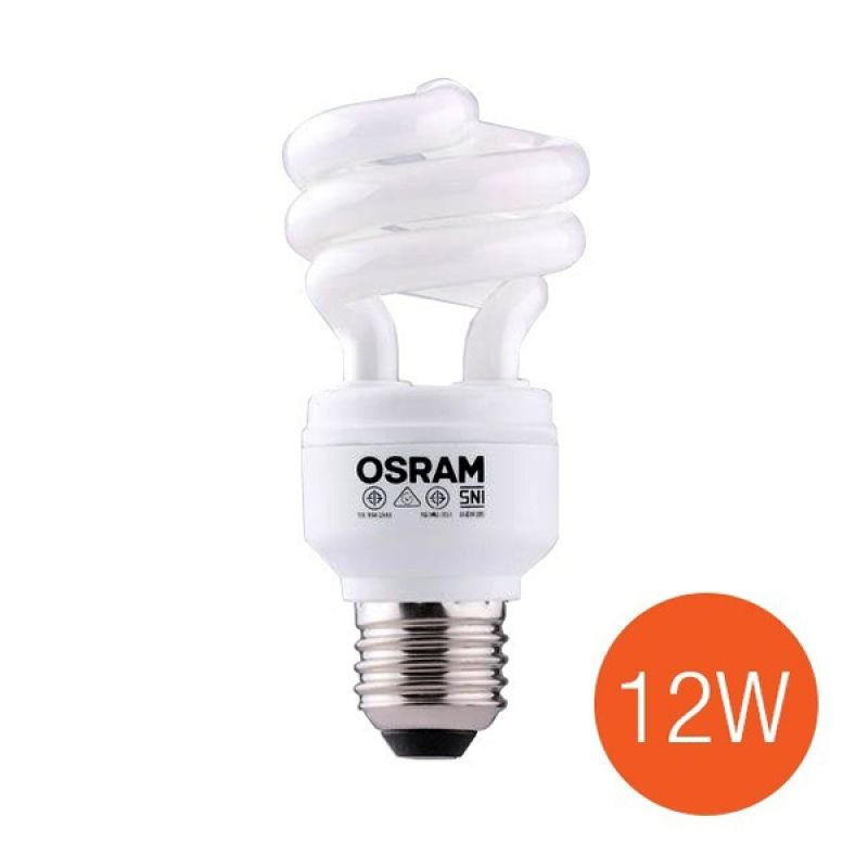 Osram Lampu Duluxstar Mini Twist Base E27 - 12 Watt - Kuning