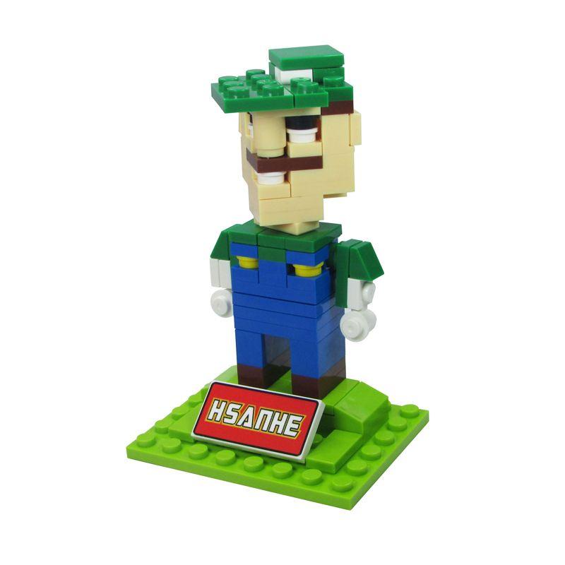 HSANHE BLOCK Cube Nano Micro World Series Luigi 6333 Mainan Blok & Puzzle