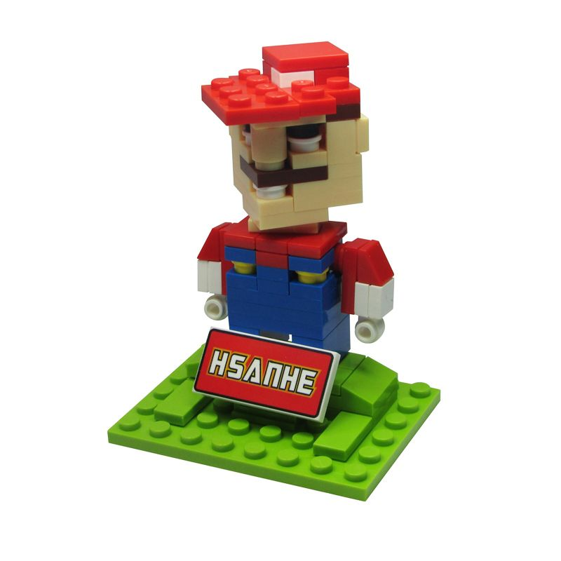 HSANHE BLOCK Cube Nano Micro World Series Mario Bros 6334 Mainan Blok & Puzzle