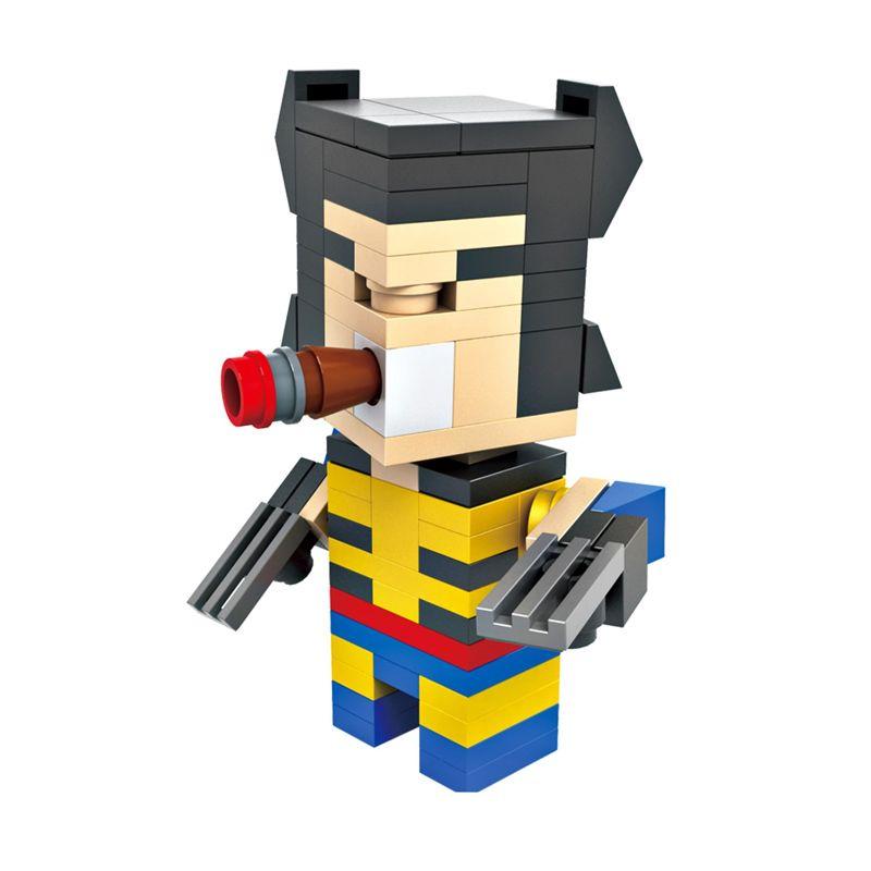 HSNHE 6304 Nano Micro World Series Wolverine Mainan Blok & Puzzle