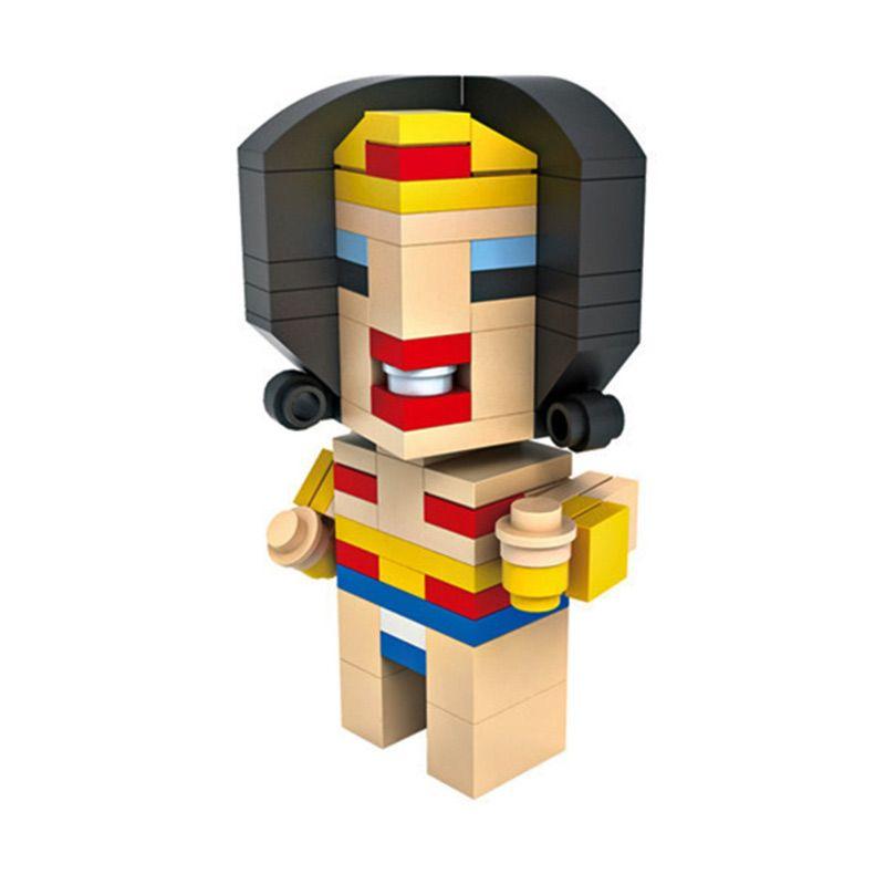 HSNHE 6311 Nano Micro World Series Wonder Woman Mainan Blok & Puzzle