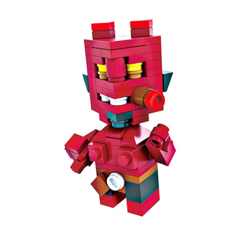 HSNHE 6312 Nano Micro World Series Hellboy Mainan Blok & Puzzle