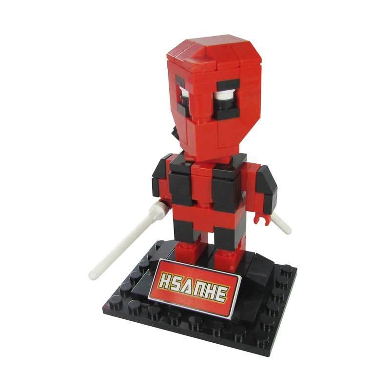 HSANHE BLOCK Cube Nano Micro World Series Deadpool 6323 Mainan Blok & Puzzle