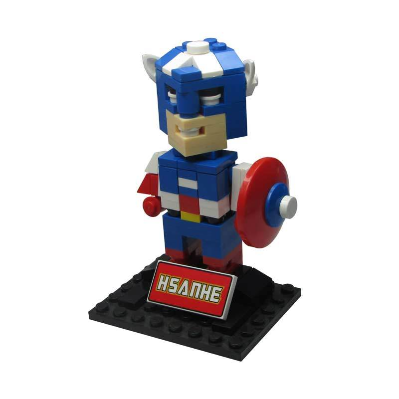 HSANHE BLOCK Cube Nano Micro World Series Captain America 6324 Mainan Blok & Puzzle