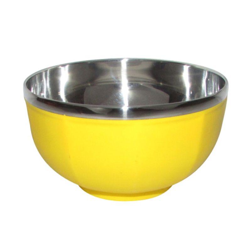 Lanjarjaya Bowl Stainless Tahan Panas Kuning Mangkuk