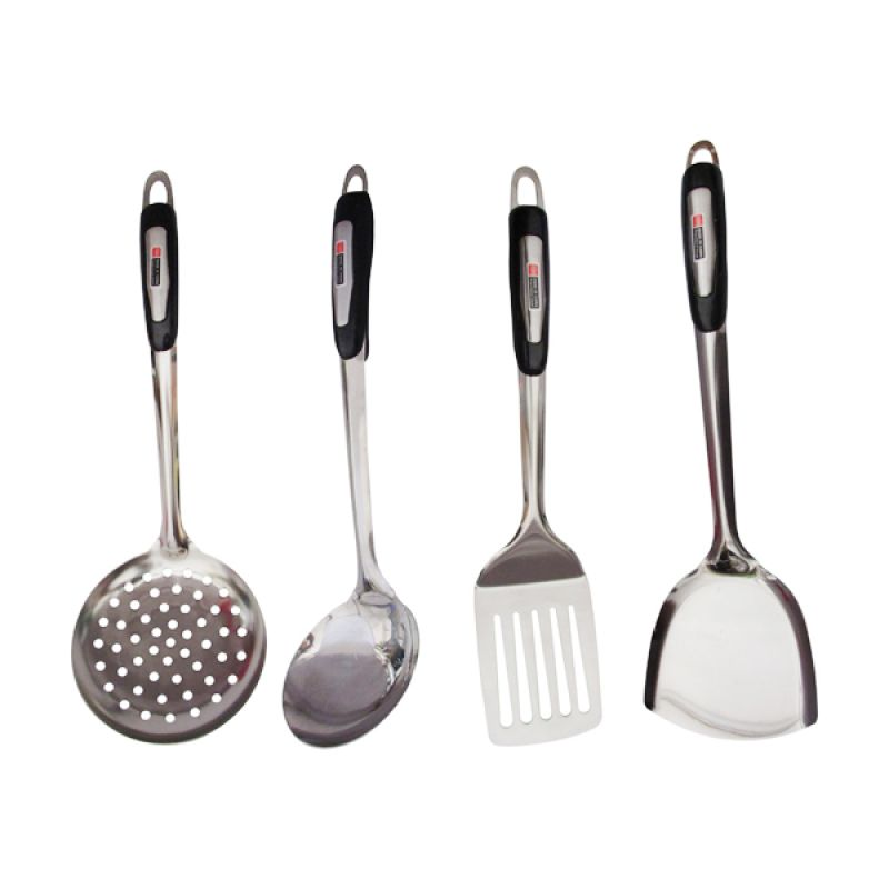 Lanjarjaya Stainless Steel Kitchen Tool Set Alat Masak [4 Pcs]