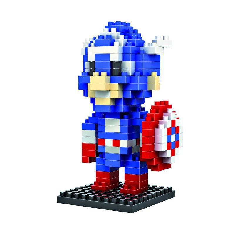 LDL 116 Lego Nano World Series Captain America Mainan Blok & Puzzle