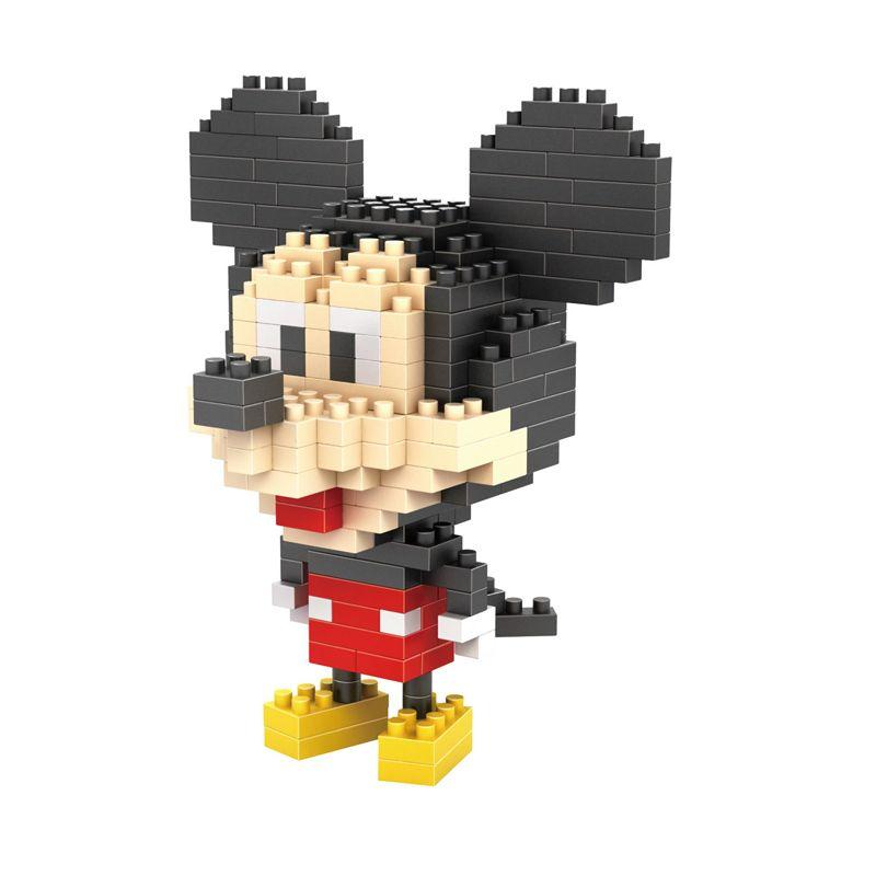 LDL 120 Lego Nano World Series Mickey Mouse Mainan Blok & Puzzle