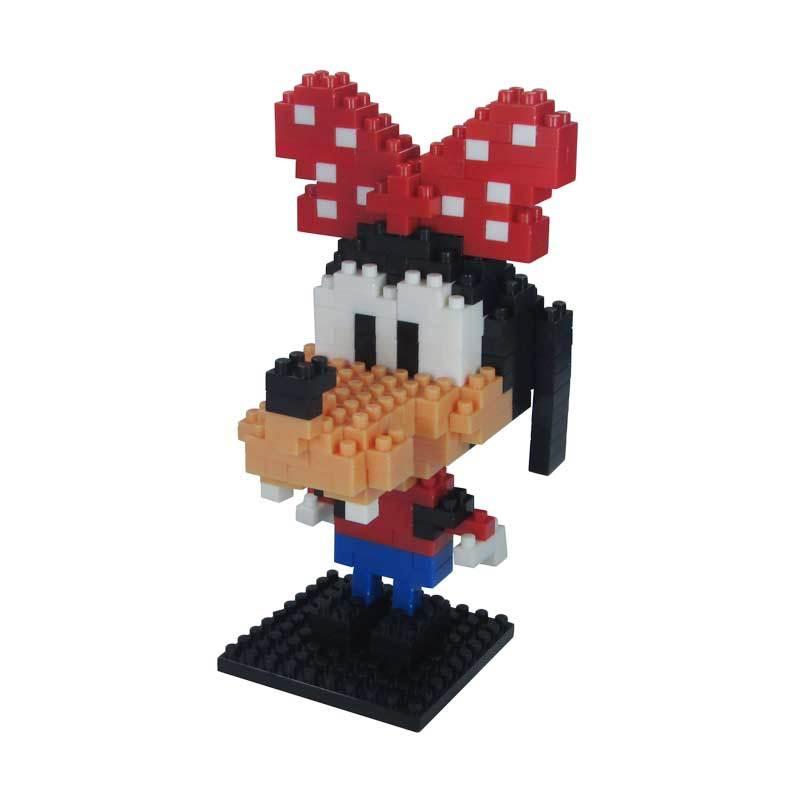 LDL 124 Lego Nano World Series Goofy Girl Mainan Blok & Puzzle