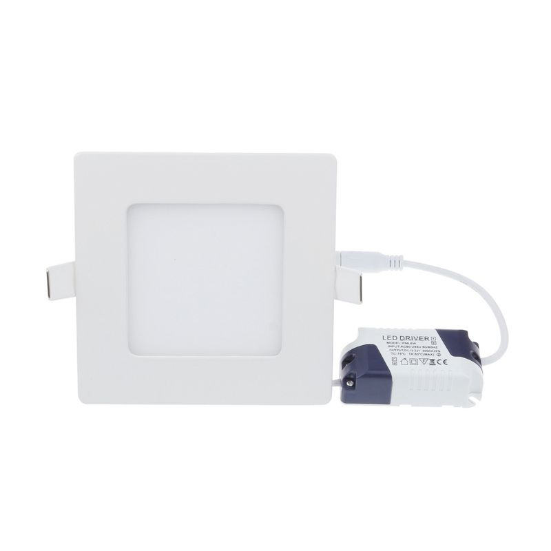 LED Natural Square Model Tanam White Lampu Panel Downlight [9 Watt]