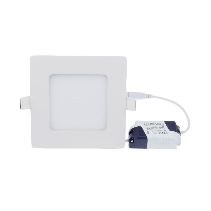 LED Square Tanam Natural Putih Lampu Panel Downlight [12 Watt]