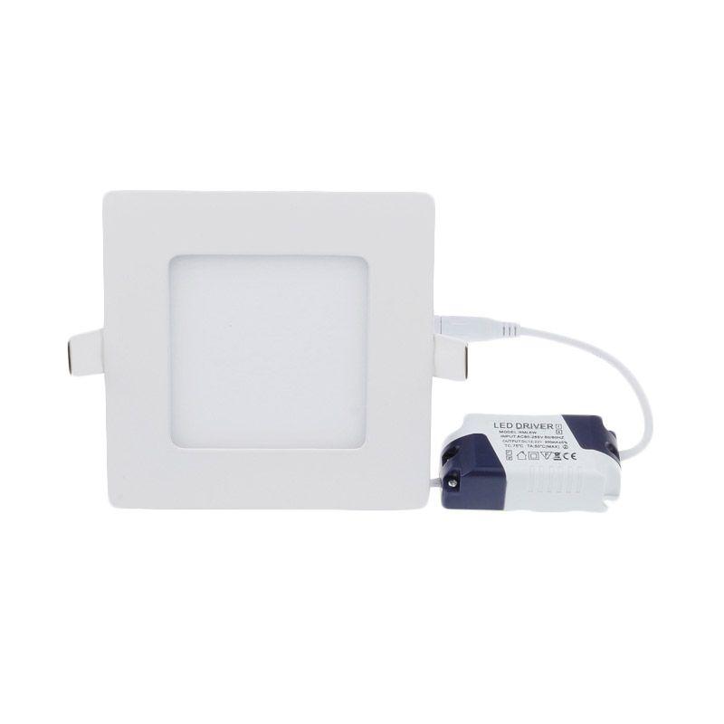 LED Square Tanam Natural White Lampu Panel Downlight [6 Watt]