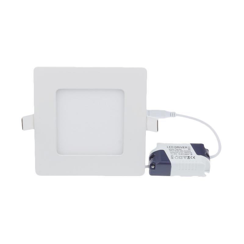 LED Square natural White Lampu Downlight [9 Watt]