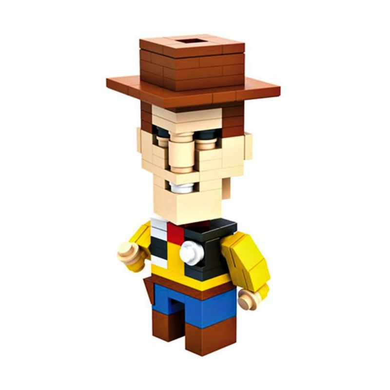 HSNHE 6317 Nano Micro World Series Sheriff Woody Mainan Blok & Puzzle