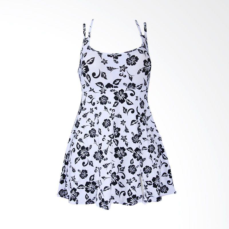 Lasona SWJ-1404-L0542 White Black Baju Renang Wanita