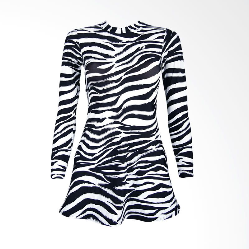 Lasona SWJ-C1578-L0690 Black White Baju Renang Wanita