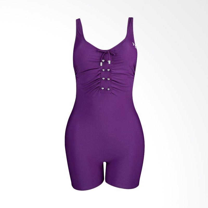 Lasona TRD-2359-L4 Dark Purple Terusan Renang Wanita