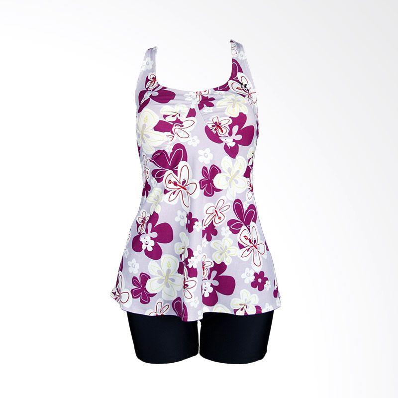 Lasona TRDP-1286J-L01866 White Pink Baju Renang Wanita