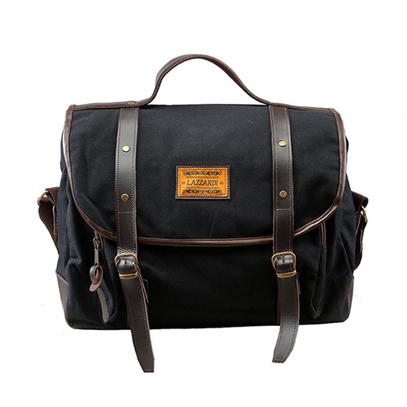 Lazzardi Dimensional Sling Bag - Black