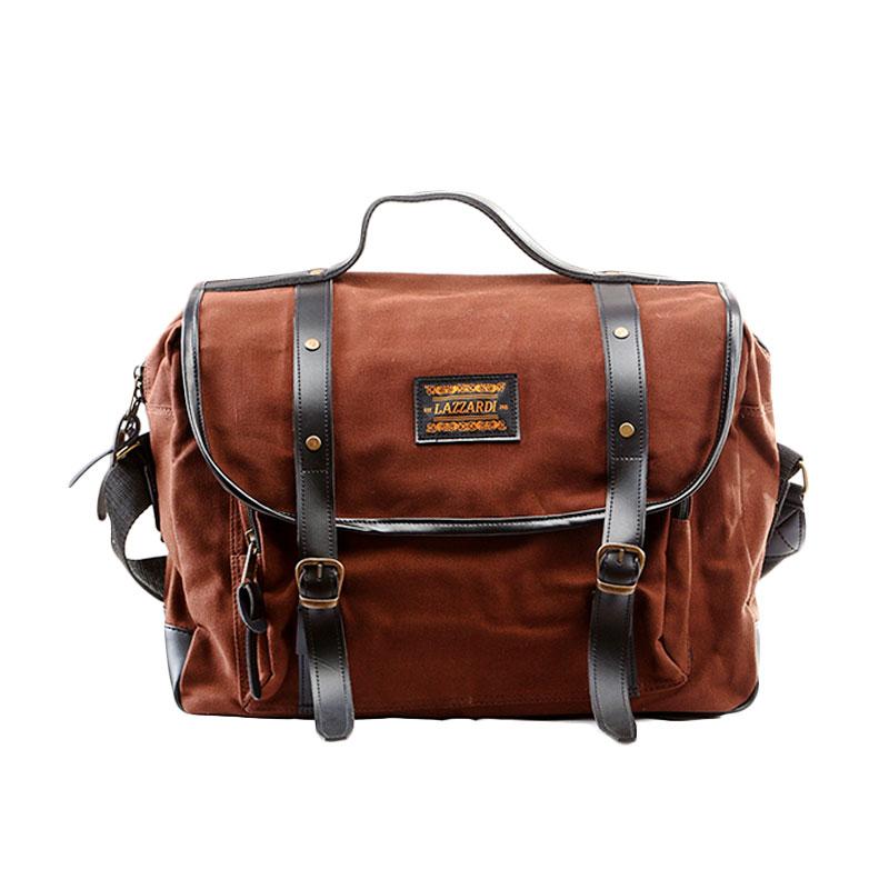 Lazzardi Dimensional Sling Bag - Brown