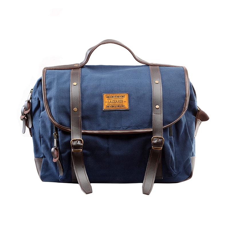 Lazzardi Dimensional Sling Bag - Navy