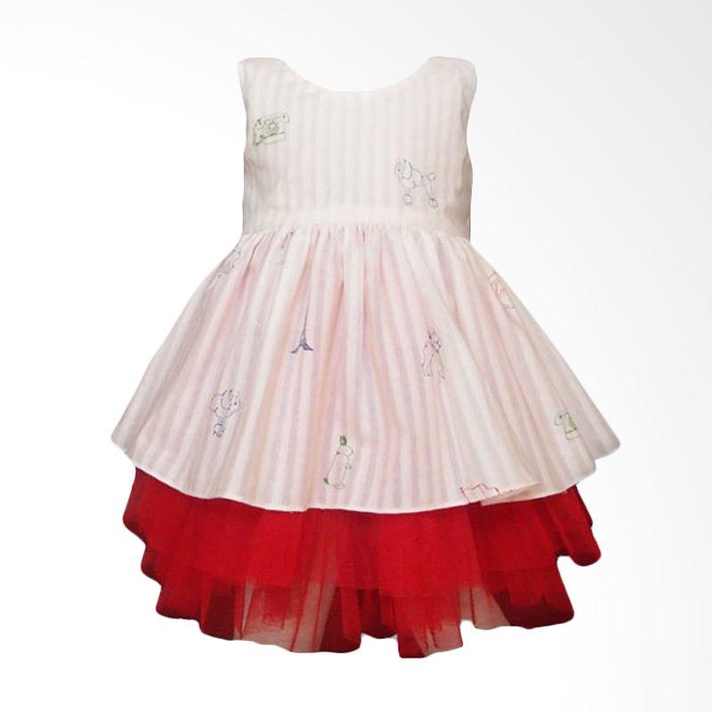 Le Chariot Paris White Red Dress