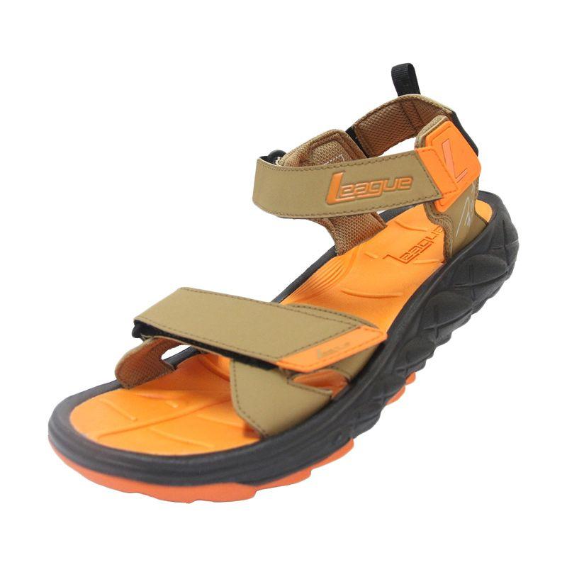 League Conner Brown Orange Sandal Pria