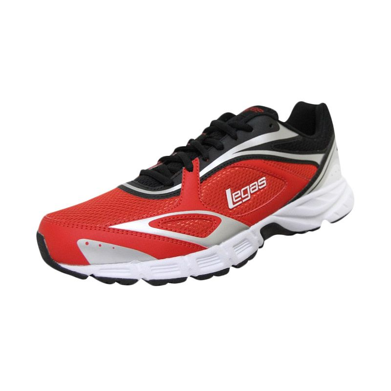 League Legas Series Evade LA M Red Black Sepatu Lari Pria