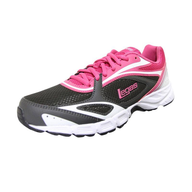 League Legas Series Evade LA W Grey Pink Sepatu Lari Wanita