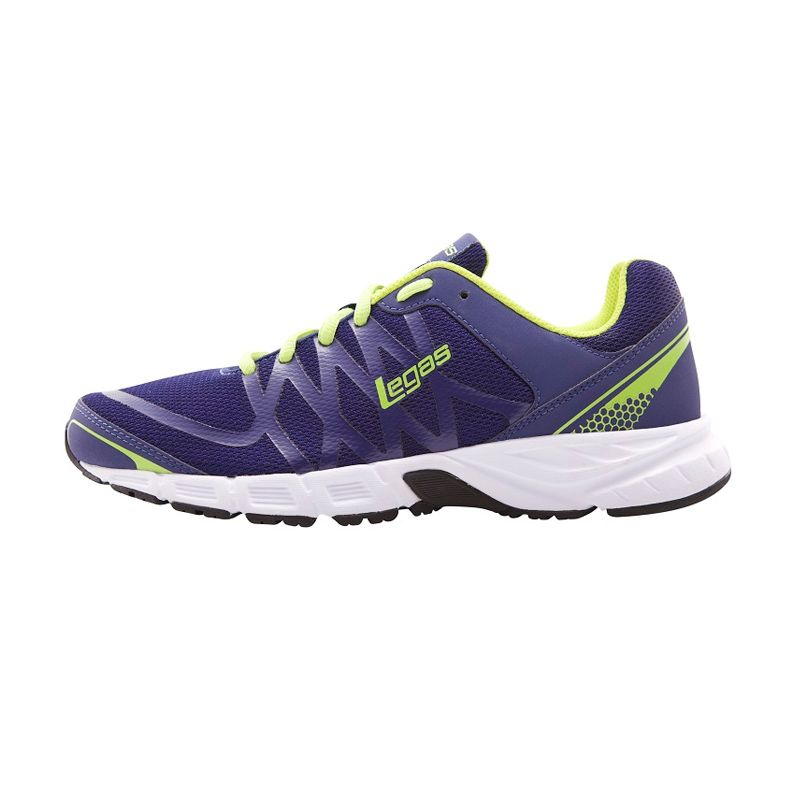 League Legas Series Evo LA W Blue Green Sepatu Lari Wanita