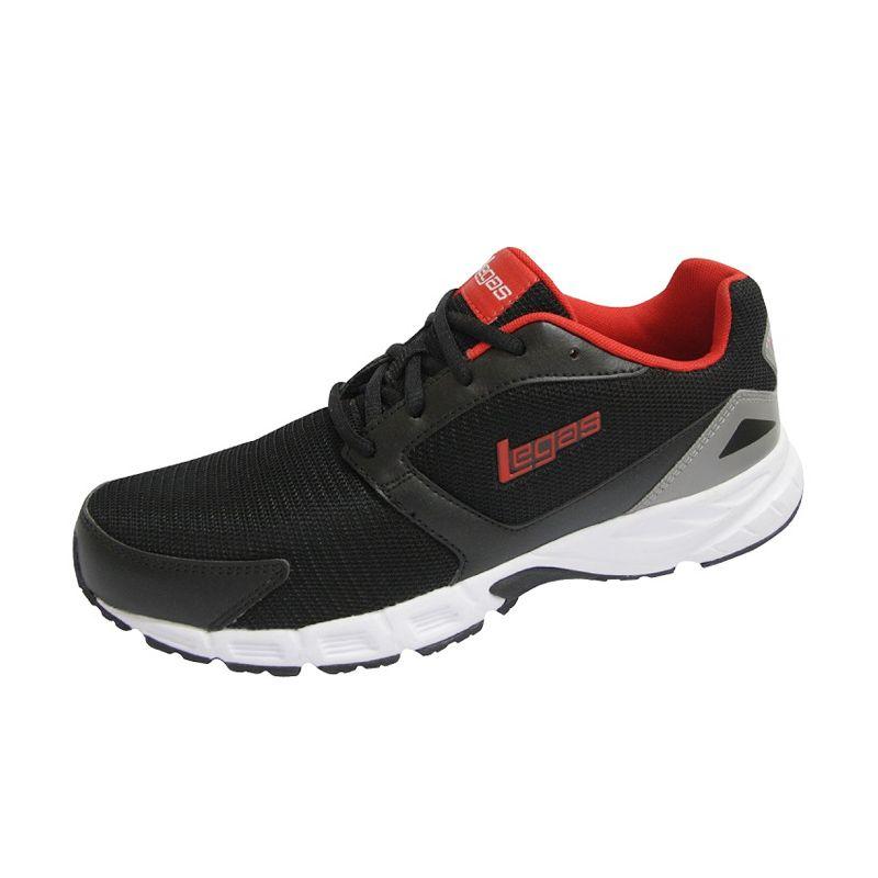 League Legas Series Koga LA M Black Red Sepatu Lari Pria