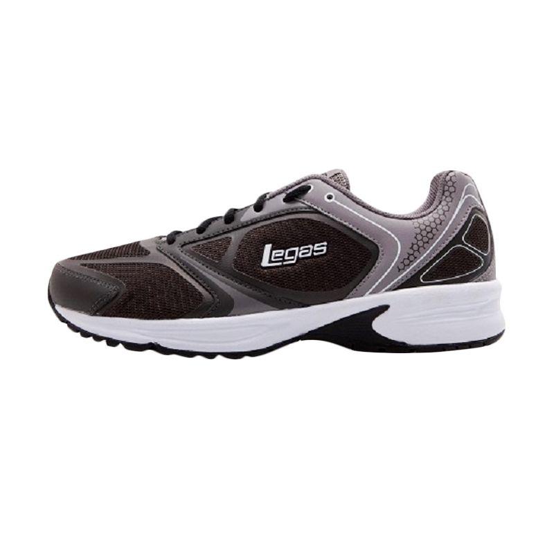 League Legas Series Neptune LA M Grey Black Sepatu Lari Pria