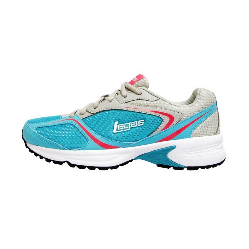League Legas Series Neptune LA W Blue Grey Sepatu Lari Wanita
