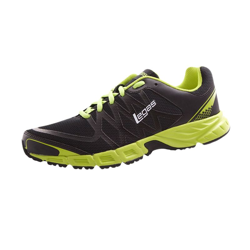 League Legas Series Revolt LA M Black Green Sepatu Lari Pria