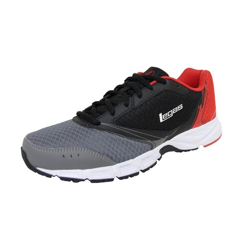 League Legas Series Tracer Grey Black Sepatu Lari Pria