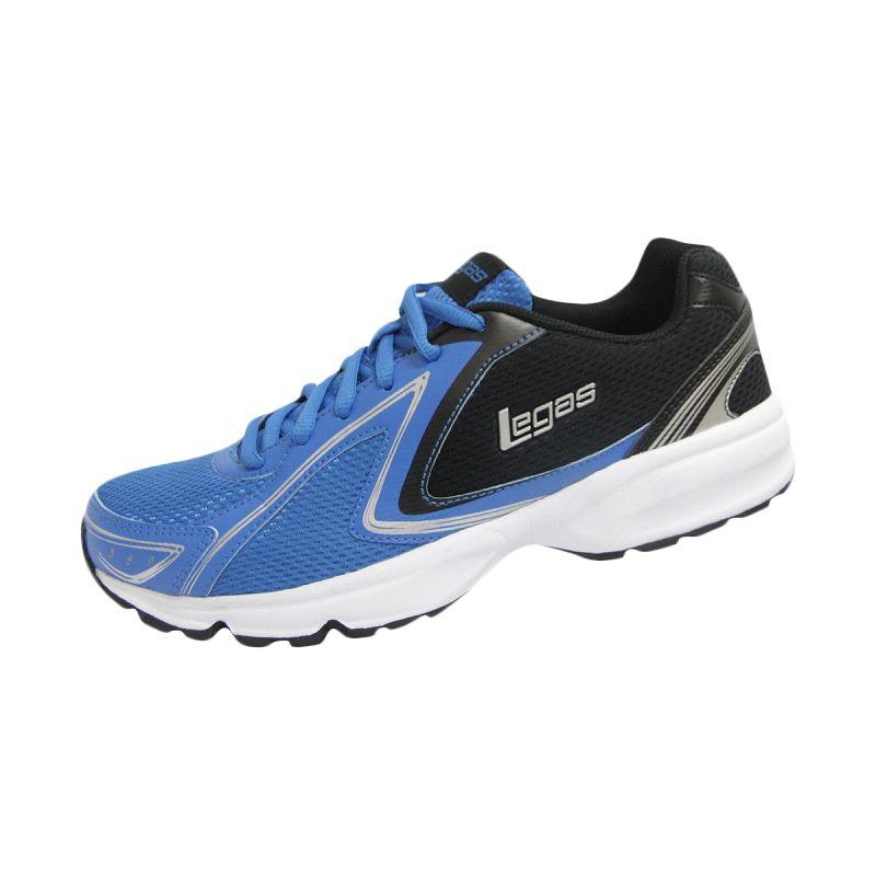 League Legas Series Twister LA M Blue Black Sepatu Lari Pria
