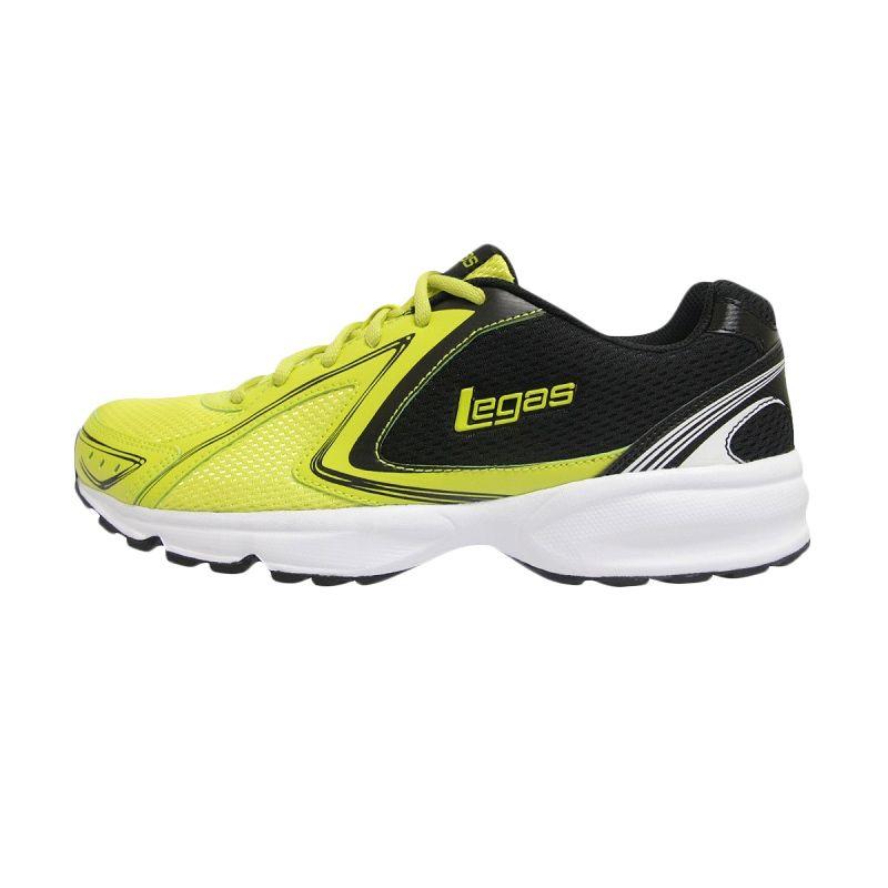 League Legas Series Twister LA M Green Black Sepatu Lari Pria
