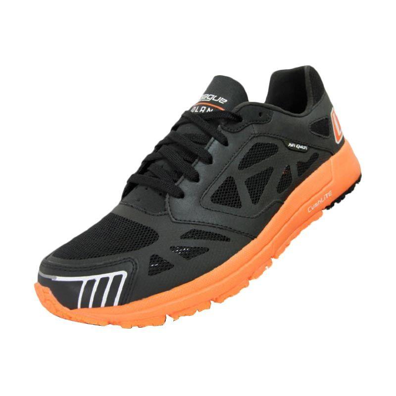 League Volans Nocturnal (J-Step) Black - Orange Sepatu Running