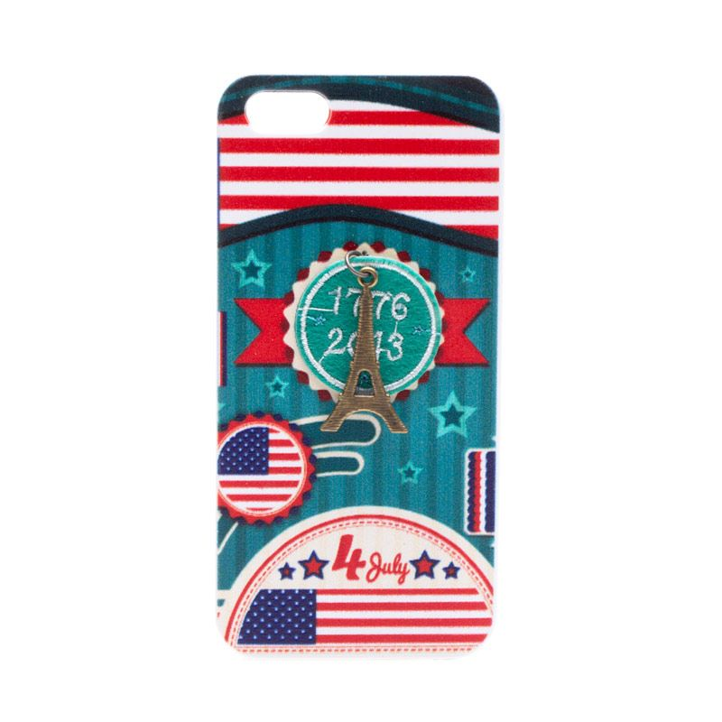 Fashion Case Eiffel America Casing for iPhone 5 or 5s