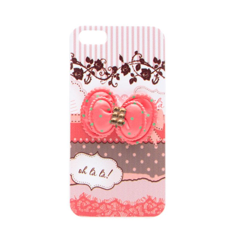 Fashion Case OhLala Pink Ribbon Casing for Samsung Note 3