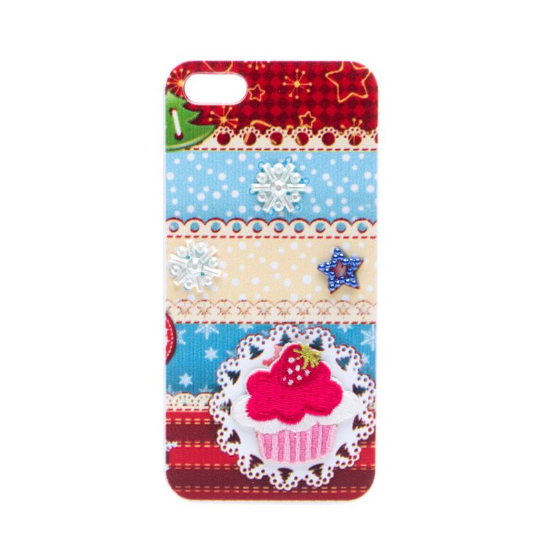 Fashion Case Sparkling Cupcake Casing for iPhone 5 or 5s