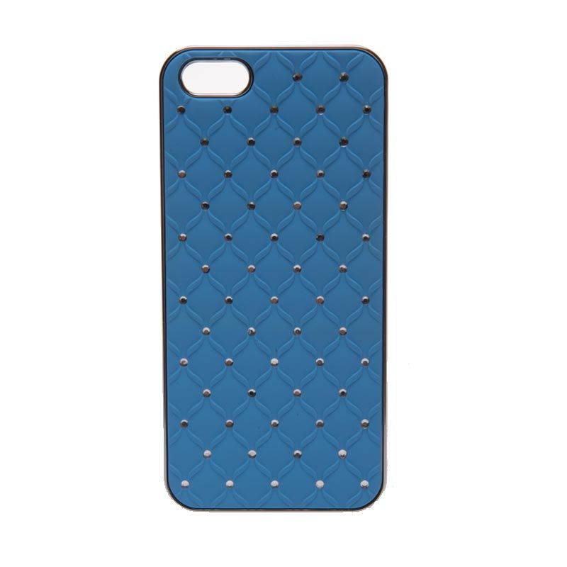 LED Sign Polkadot Stainless Blue Casing for iPhone 5 or 5s