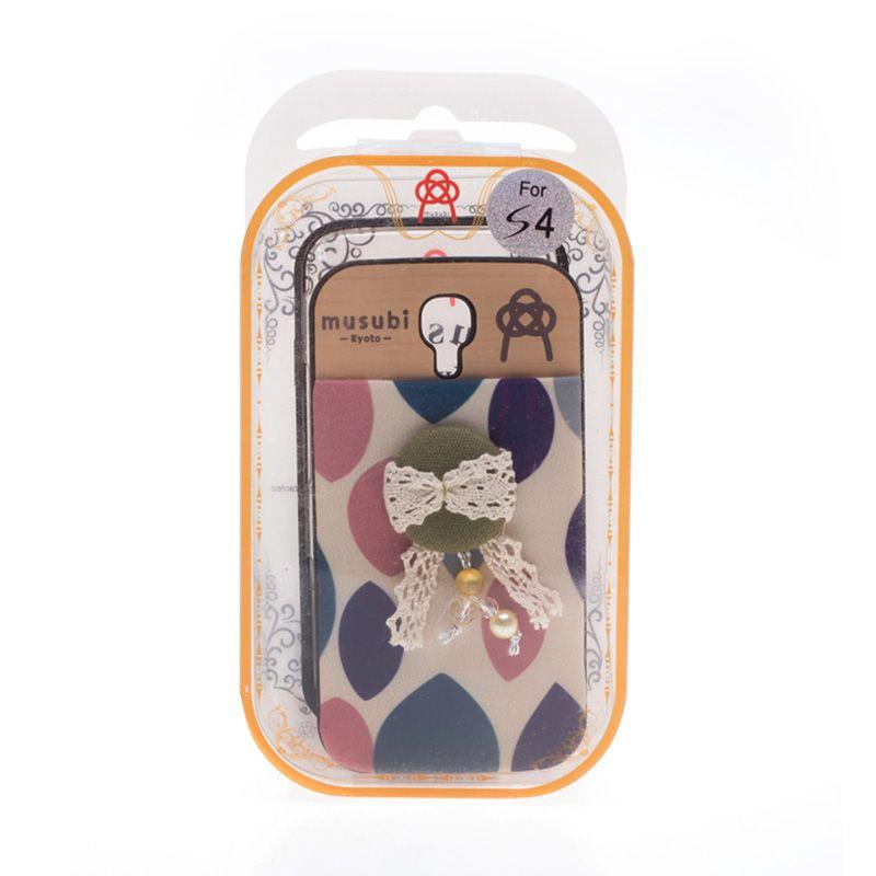 Musubi Kyoto Green Tassels Pearls Casing For Galaxy S4