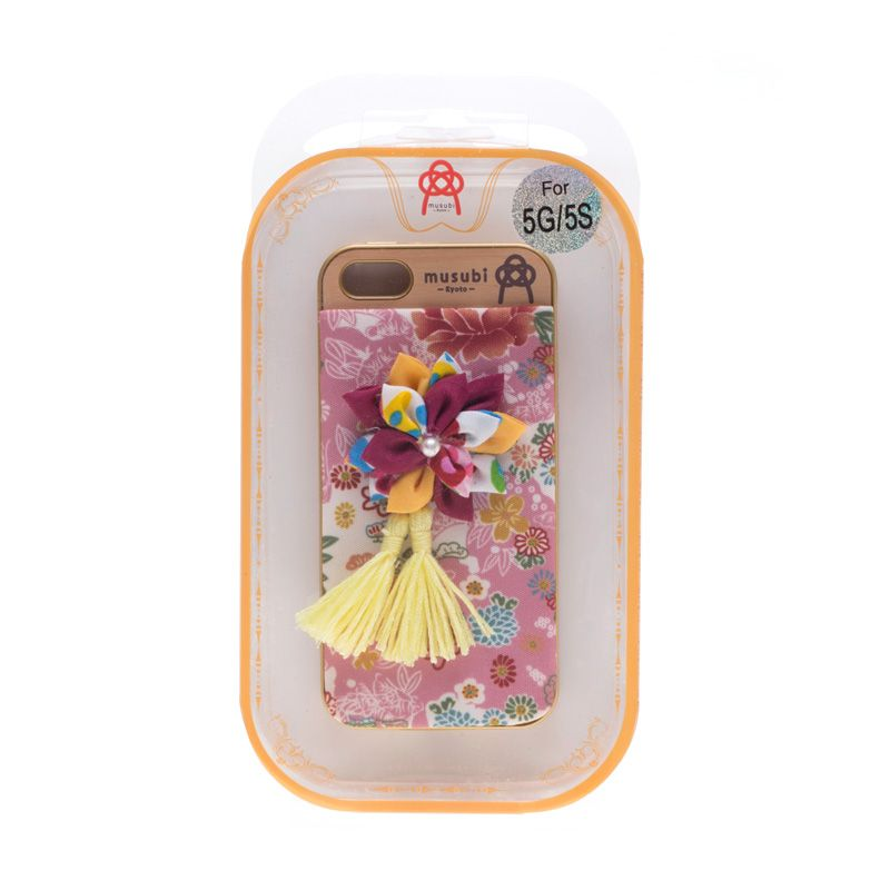 Musubi Kyoto Flower Purple Casing for iPhone 5 or 5s