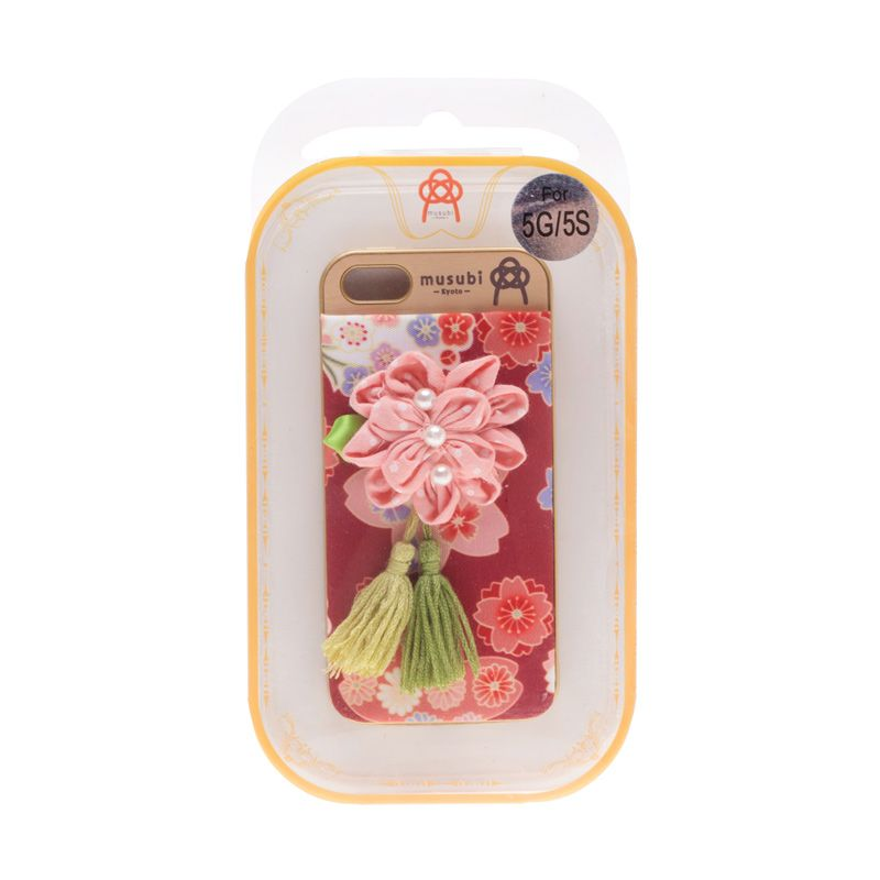 Musubi Kyoto Flower Pearls Pink Casing For iPhone 5 or 5s