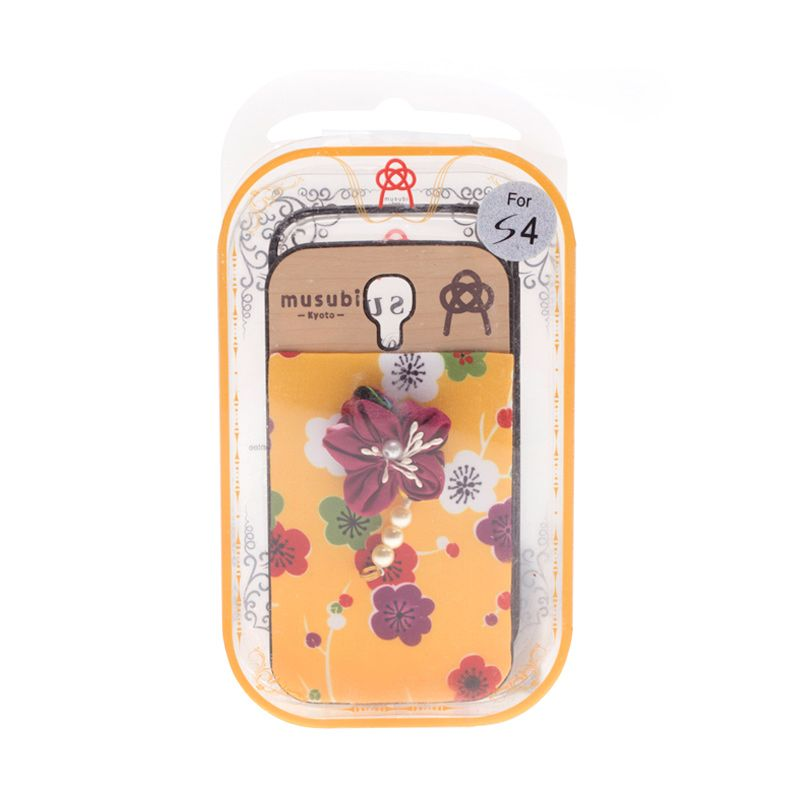 Musubi Kyoto Flower Pearls Maroon Casing for Galaxy s4