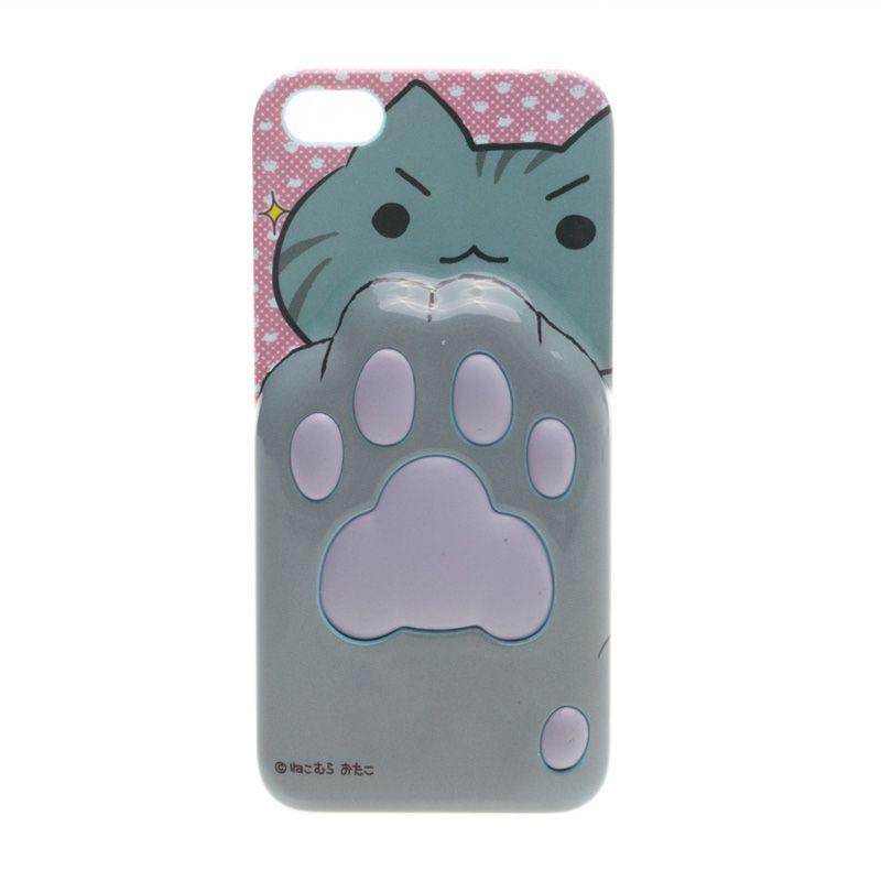 Niconico Nekomura Cat Footprints Grey Casing for iPhone 5