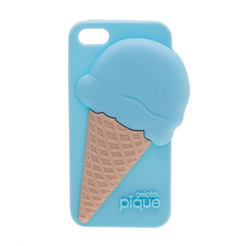 Pique Ice Cream Rose Gelato Ice Cream Blue Casing for Iphone 5 or 5s